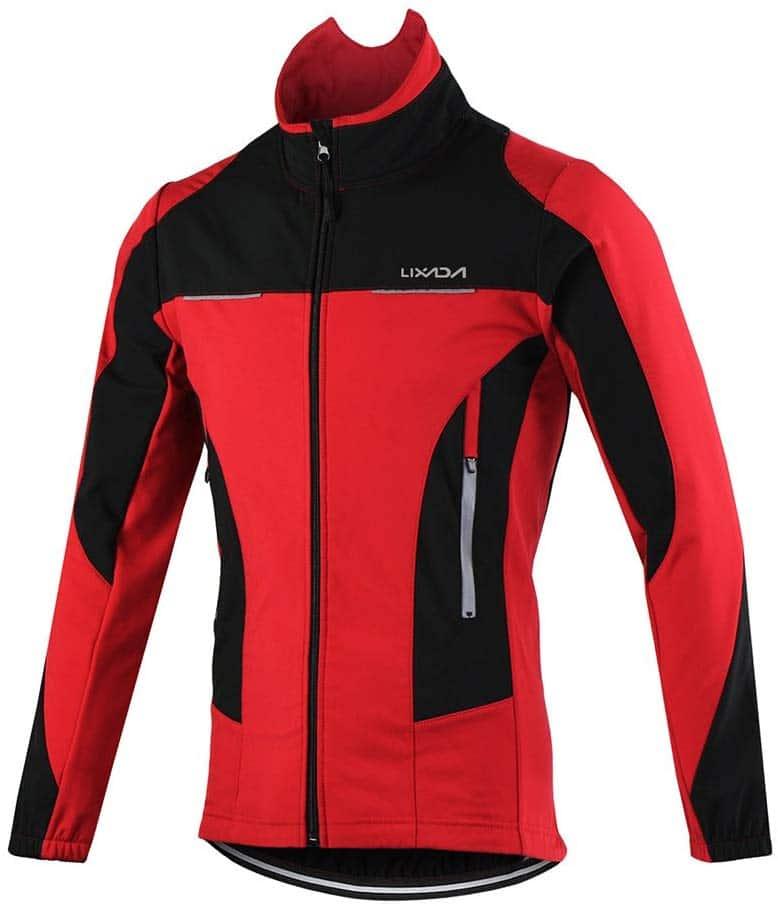 Chaqueta ciclismo barata lixada roja