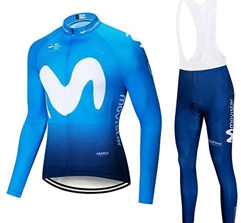 Equipación larga Movistar Team (maillot + culote)