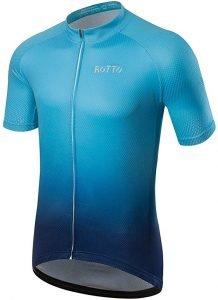 Maillot azul rotto ciclismo