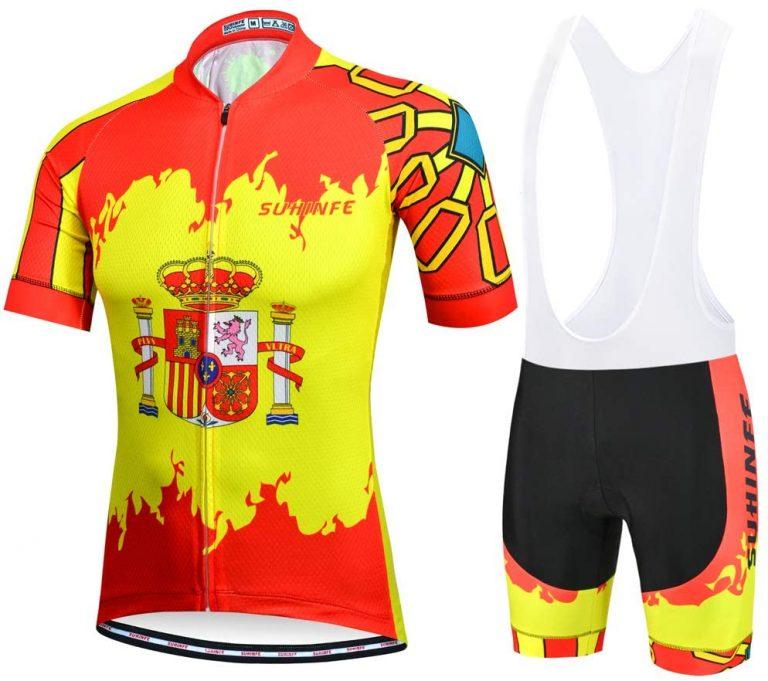 Maillot y culote bandera y escudo de España