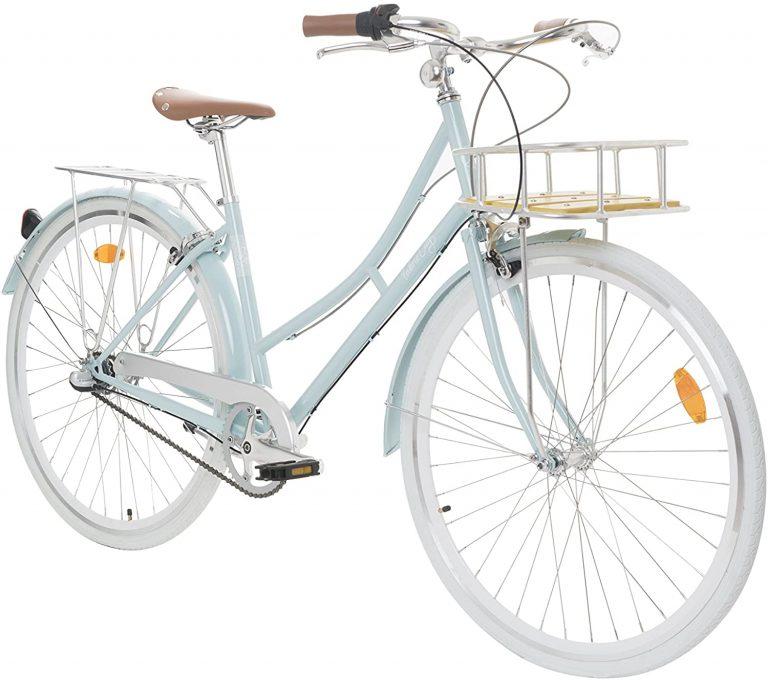 Fabric City Bicicleta de Paseo- Bicicleta de Mujer con Cesta