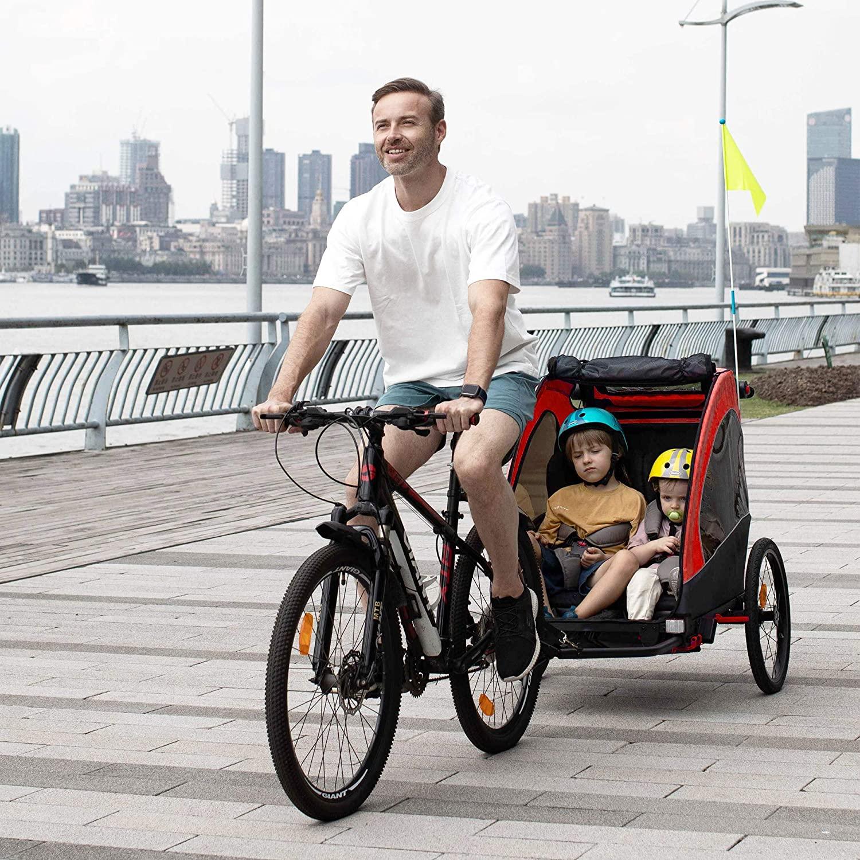 Remolque infantil bicicleta 3 en 1